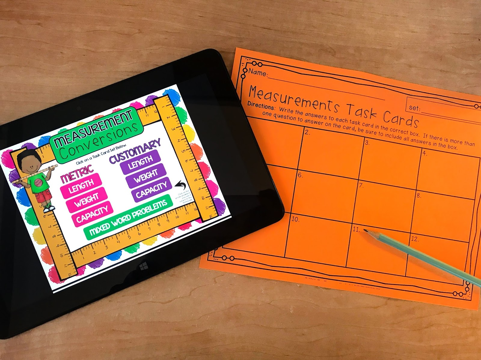 Interactive Ways To Teach Measurement Includes Freebie