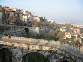 The imposing walls of Bergamo's Citta Alta are a legacy of  the city's time under Venetian rule