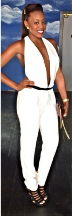 347b9f00c77a Making less more with this sexy jumpsuit and caged heels. (cc: @kaibrownsp)