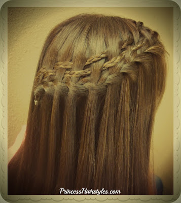Gorgeous waterfall braid variation.  Double woven micro braids video tutorial.