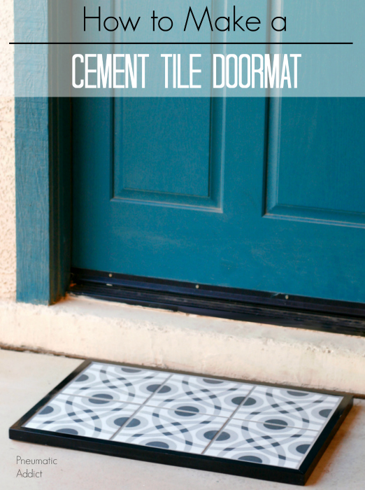 how to make a cement tile doormat tutprial