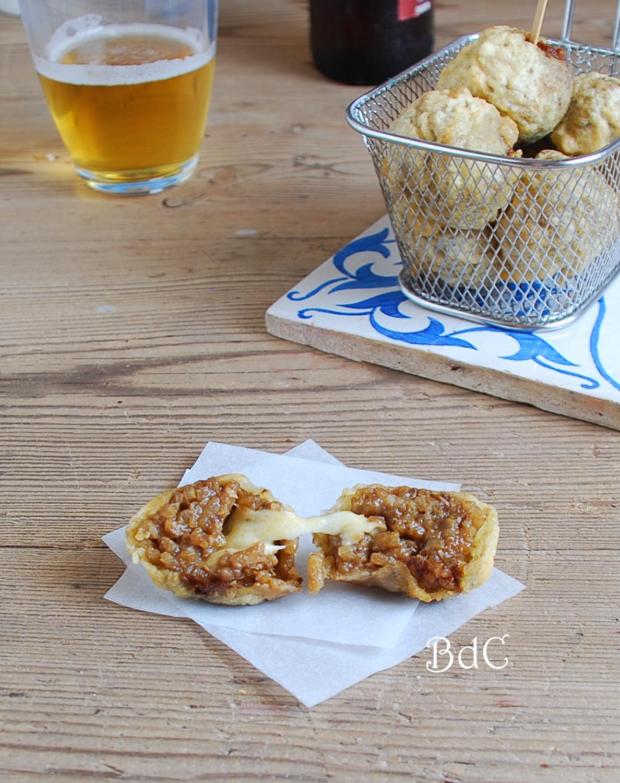 Arancini de boletus en tempura - El bistrot de Carmen
