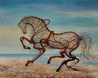 el-mundo-del-arte en-pintura-surrealista pinturas-surrealistas-caballos
