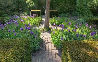Мощеные  дорожки в старом саду