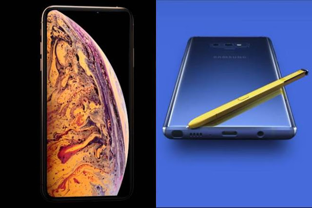 How the iPhone Xs Max compares to Samsung's Galaxy Note 9.