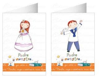 tarjetas para los detalles comuniones