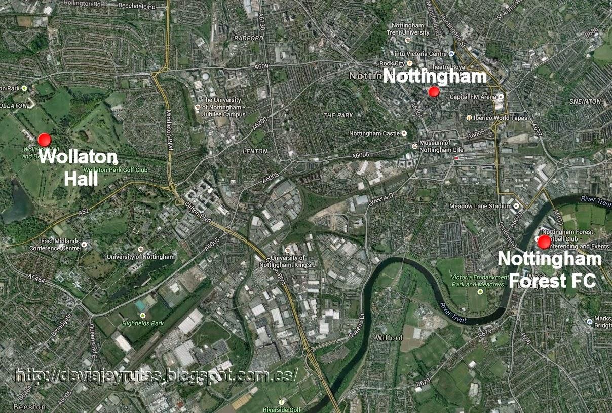 Nottingham mapa