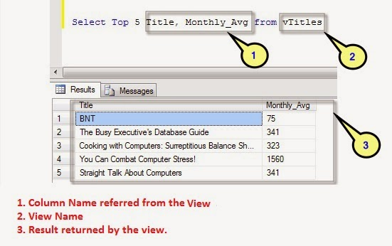 Selecting Data From a View