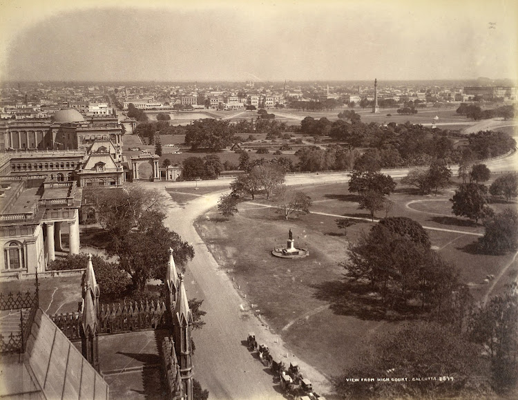 View from High Court, Calcutta (Kolkata) c.1885