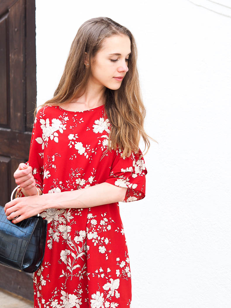 red-floral-dress