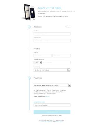 Uber PayTM Signup without Mobile App - Desktop SignUp