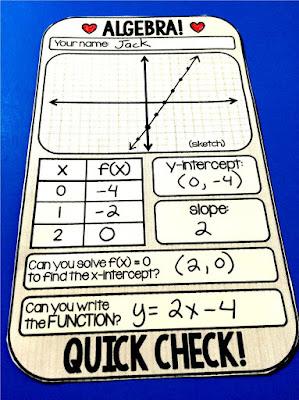 Algebra quick check