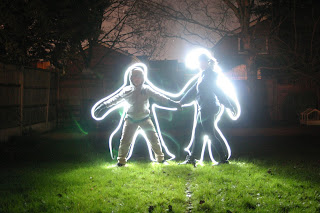 Light Photography outline drawing of Dan Jon and Top Ender