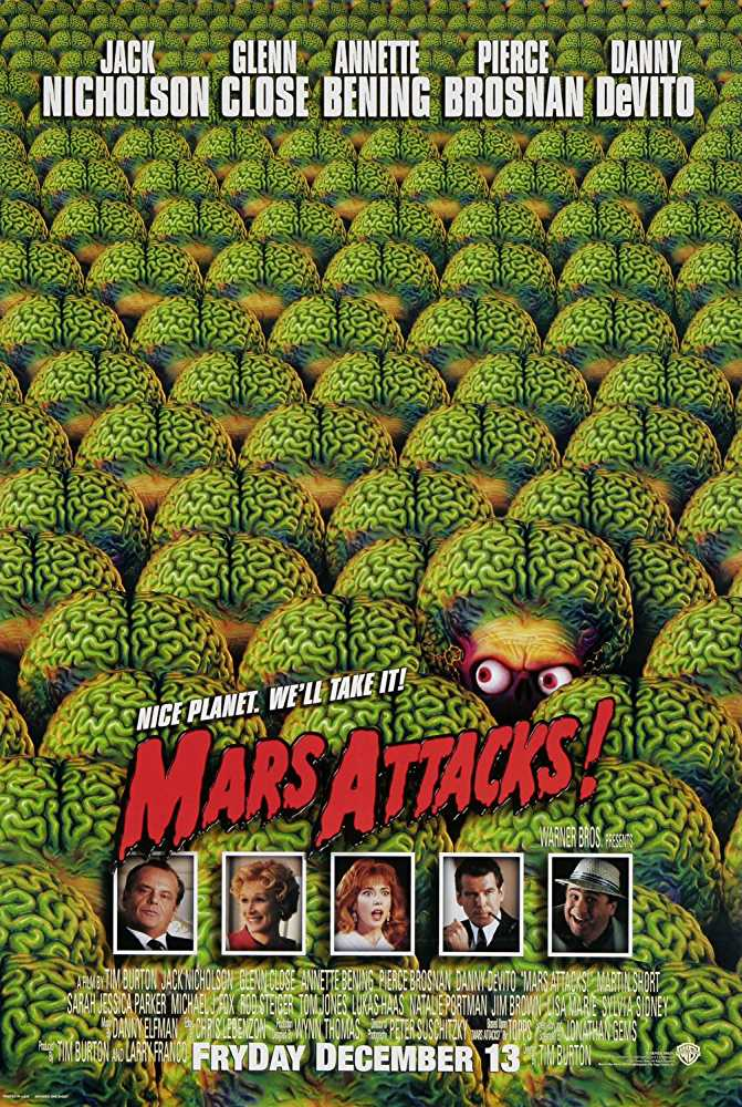 Poster Mars Attacks 1996 Movie Dual Audio Free Download 300Mb
