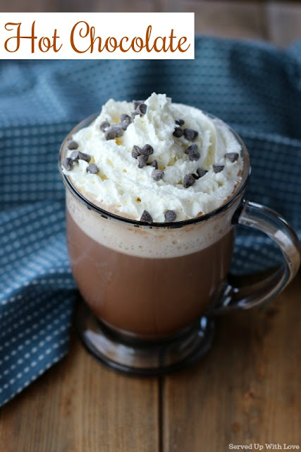 Perfectly warm and chocolaty homemade hot chocolate recipe that will chase all the winter blues away.