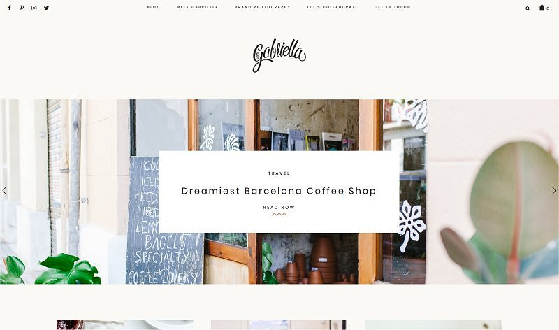 By Gabriella | Super cute blog design inspiring me right now!
