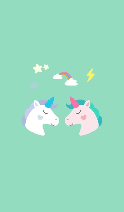 Fun couple unicorn