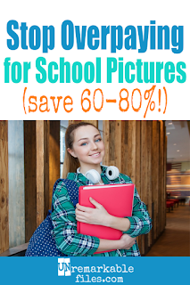 School portrait packages are ridiculously overpriced – and they're not even great pictures! This mom of 6 saves hundreds of dollars every year with this easy money-saving trick. And she still has current, professional-looking pictures of all of her kids on the walls! #money #saving #tip #hack #schoolpictures