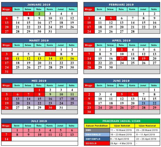 kalender pendidikan jawa barat 2018 2019