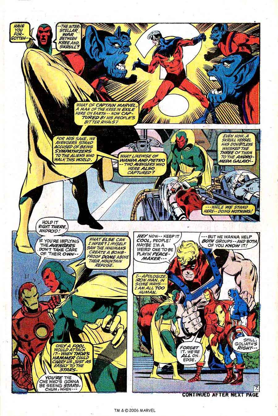 Avengers v1 #95 marvel comic book page art by Neal Adams