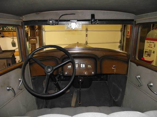 1932 Willys Overland Sedan interior