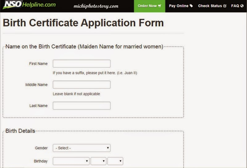 Michi Photostory: Easy Way to Request for Birth Certificate
