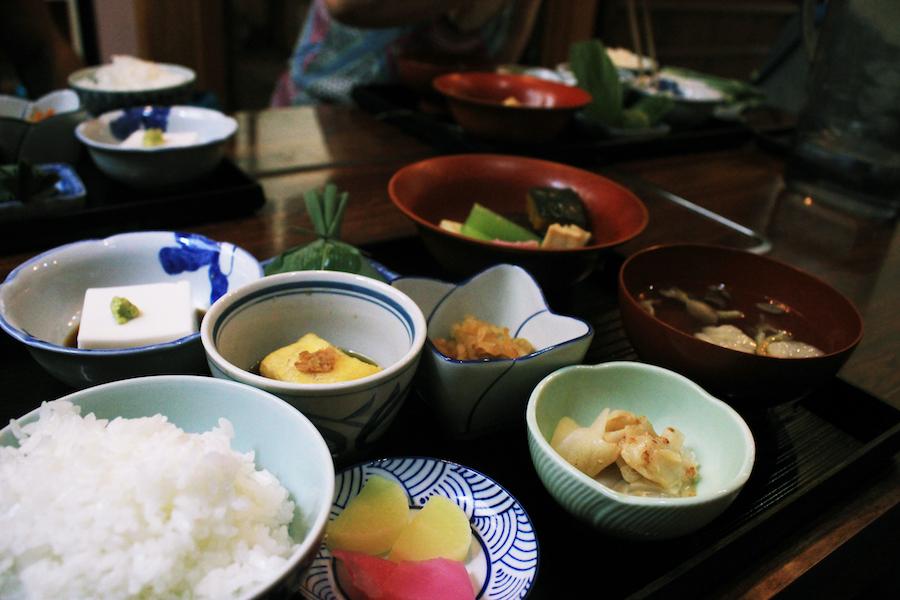 A delicious vegetarian buddhist meal in Koyasan Japan