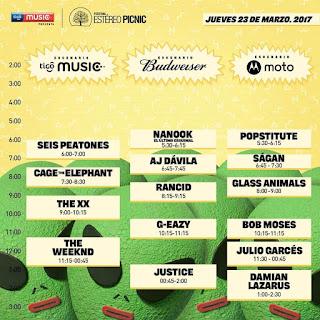 FESTIVAL ESTEREO PICNIC 2017 23 de marzo