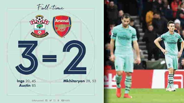 Replay Gol Southampton vs Arsenal Skor Akhir 3-2
