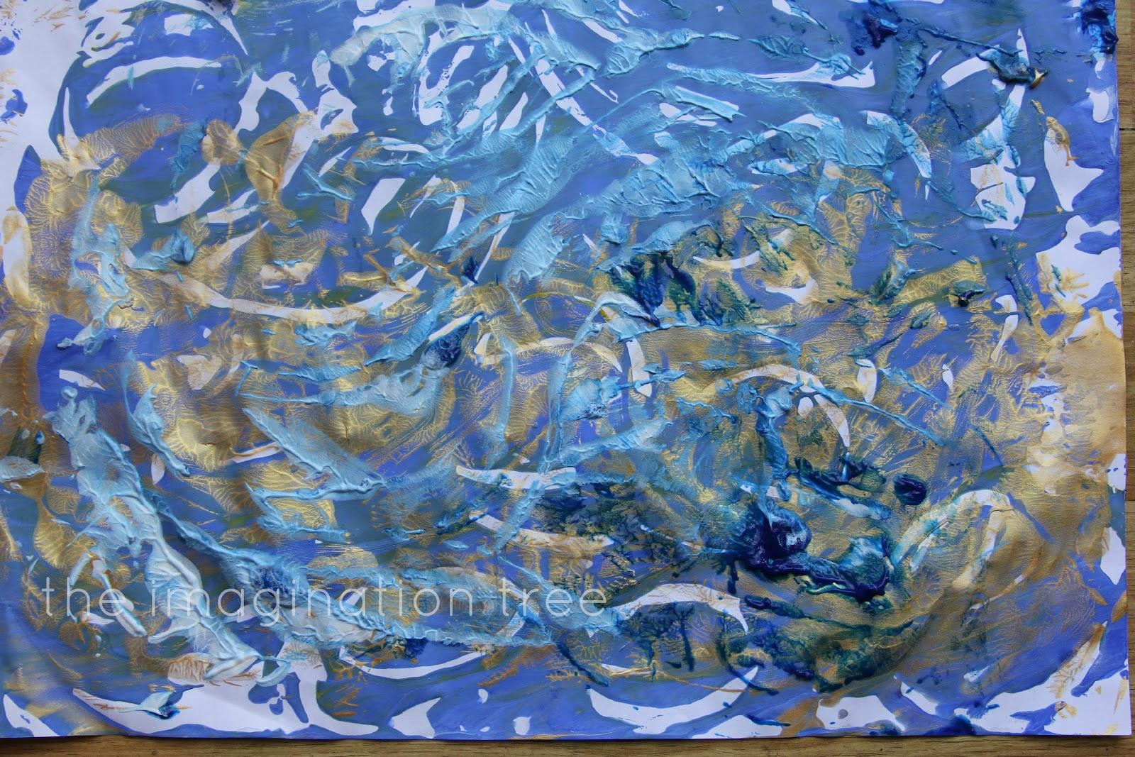 Van Gogh Style Finger Paint Printing The Imagination Tree