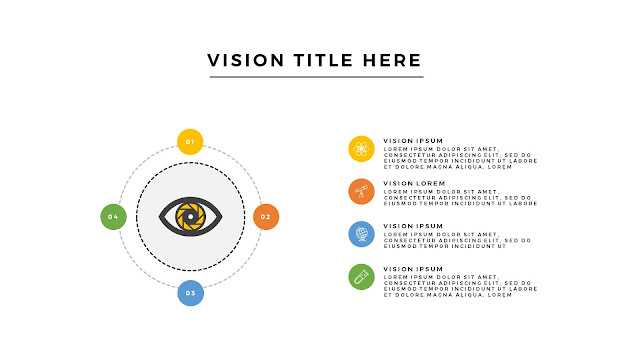 Free Infographic Vision Section with Big Eye and 4 Number Options For PowerPoint Presentation