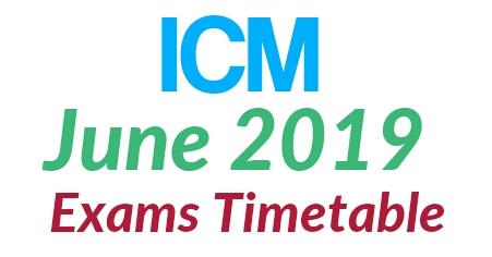 June 2019 ICM Dates