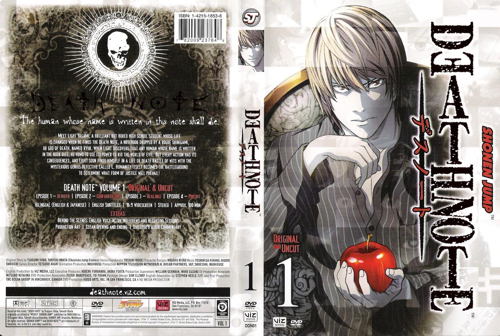 Cinemateca Capas: Capa DVD Death Note
