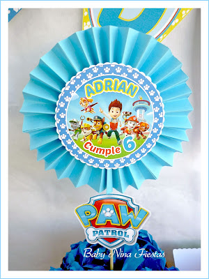 customized paper flower paw patrol