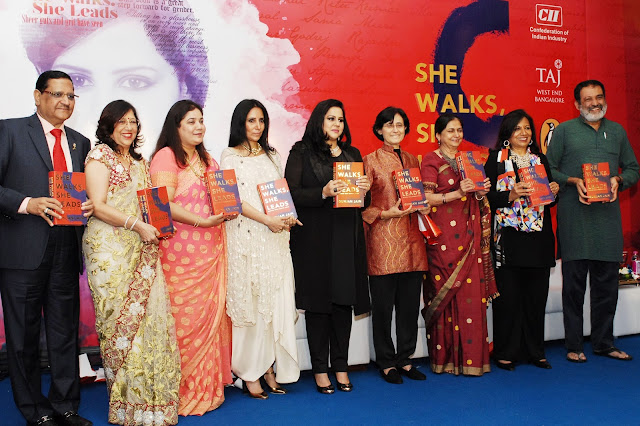 "Gunjan Jain's book ""She Walks, She Leads"" launched in Bangalore"