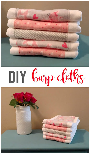 Burp cloths are the perfect gift to give to any expecting mother.  By making them yourself, you can personalize them and they are cute to boot!