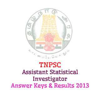 TNPSC Assistant Statistical Investigator Answer Keys