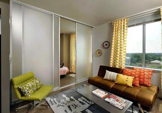 Apartemen Mungil Memakai Sekat Kaca