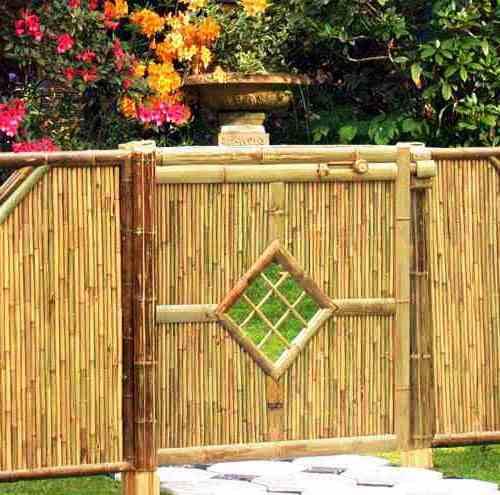 18 desain pagar bambu cantik nan unik minimalis