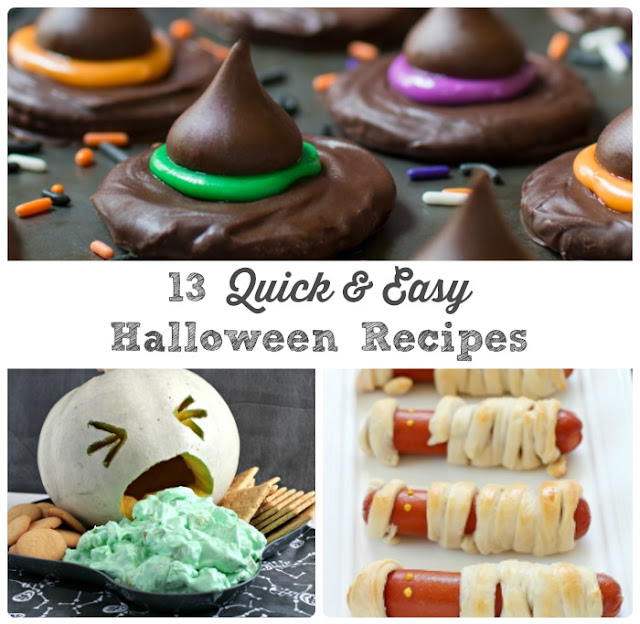 These 13 Quick & Easy Halloween Recipes can be ready to serve in 30 minutes or less making them the perfect last minute treats for that Halloween party or get-together.