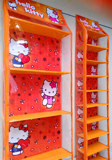 Rak Tas Rak Sepatu Hello Kitty Orange
