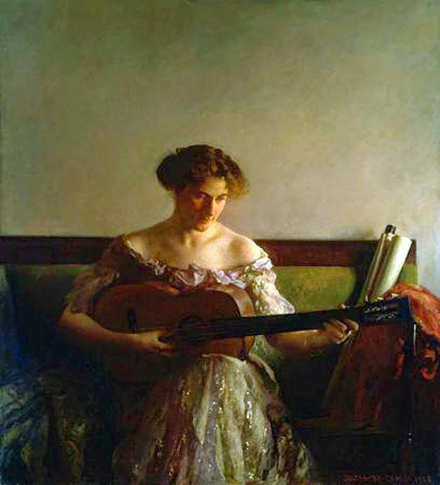 The Guitar Player, International Art Gallery, Joseph Rodefer DeCamp