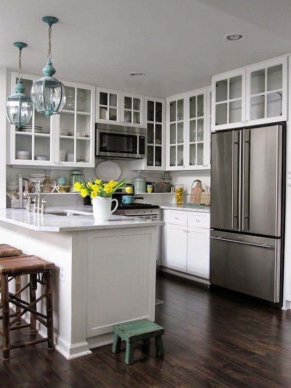 63 gambar dapur minimalis sederhana mungil nan cantik - Small kitchen no counter space model ...