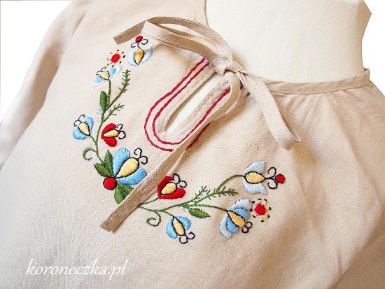 Hatf kaszubski na lnianej koszuli