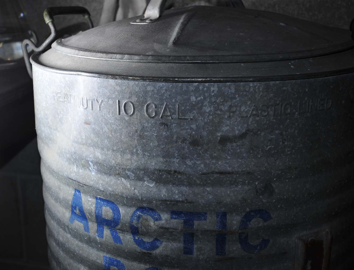 Preferred Warehouse Industrial of LA: Vintage Arctic Boy Water Cooler: XQ44
