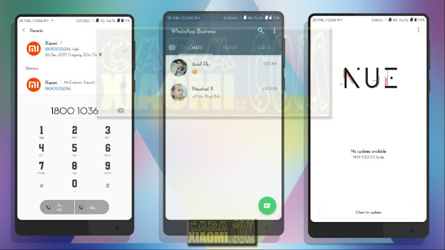 Download Link MIUI Theme Nue Circle Mtz For Xiaomi V9 / Xiaomi V8 Terbaru