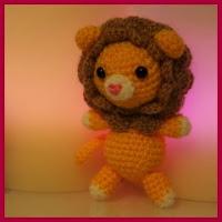 Precioso león amigurumi