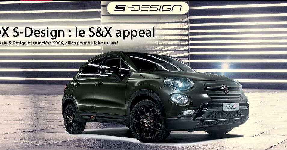 fiat 500x s design arriva anche in francia. Black Bedroom Furniture Sets. Home Design Ideas