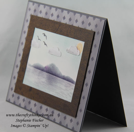Masculine card, Masking & sponging, Seascape, Pattern Party Masks, High Tide, #thecraftythinker, Stampin Up Australia Demonstrator, Stephanie Fischer, Sydney NSW