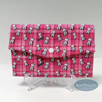 Pink Plaid Westies Fabric Trifold Wallet
